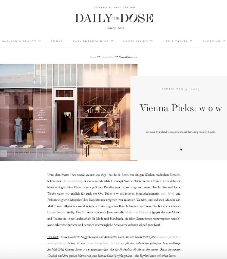 the daily dose - www.cest-design.at