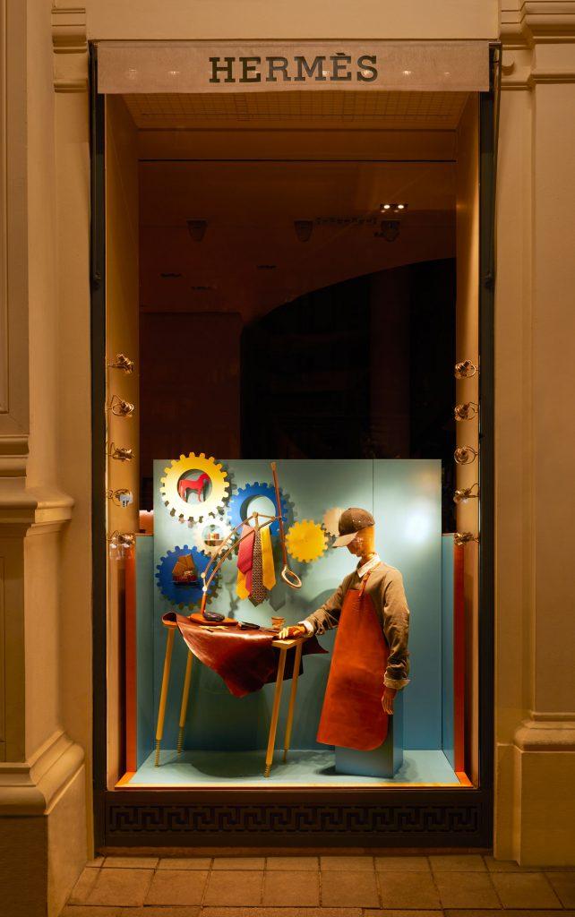 hermès schaufenster design - www.cest-design.at